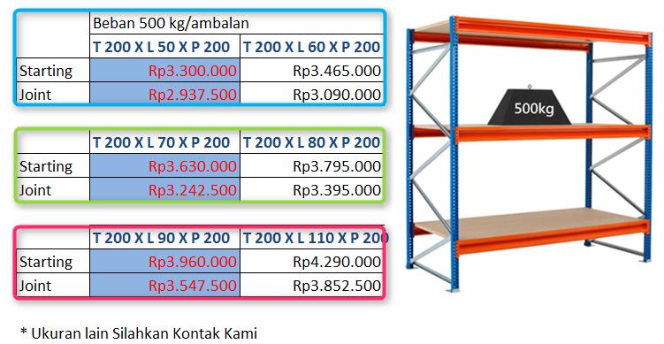 Rak Gudang 500 kg